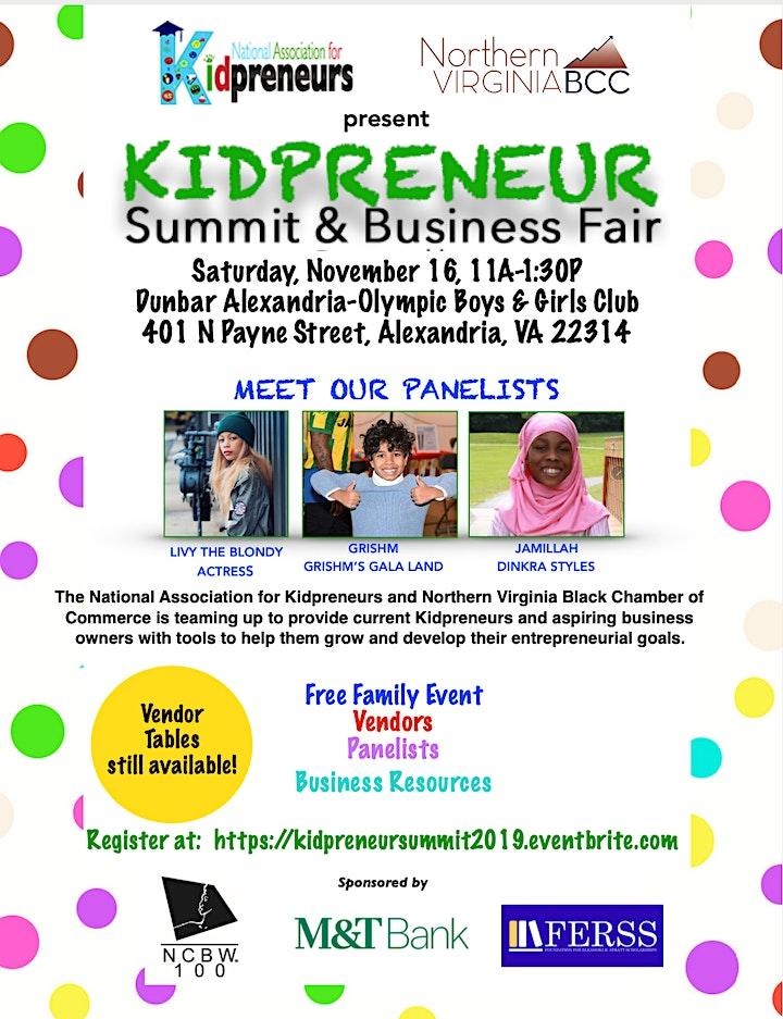 Kidpreneur Summit & Business Fair image
