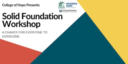 Solid Foundation Workshop - December