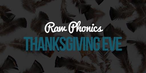 Raw Phonics Thanksgiving Eve