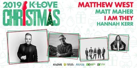 K-Love Christmas Tour MERCH VOLUNTEERING - Brandon, MS (Jackson) tickets