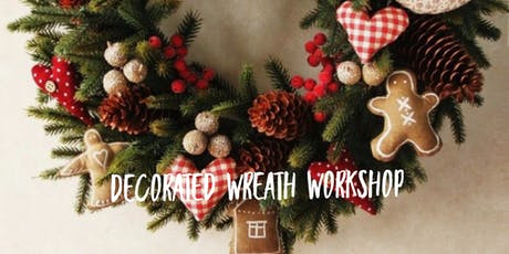 Christmas handmade felt wreath workshop tickets