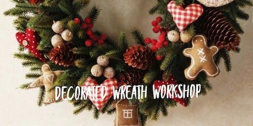 Christmas handmade felt wreath workshop