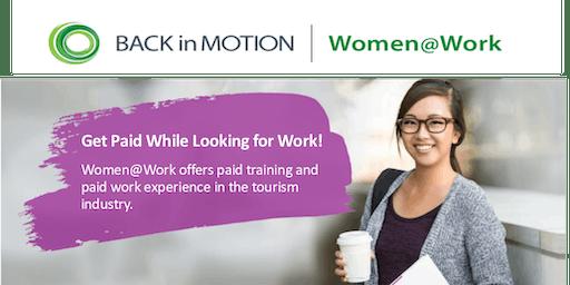 Women@Work Tourism Program Info Session - Coquitlam