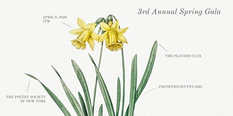 The Poetry Society of New York 3rd Annual Spring Gala tickets