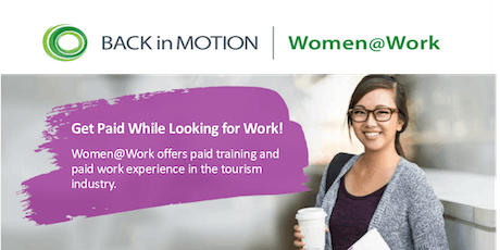 Women@Work Tourism Program Info Session - Coquitlam tickets
