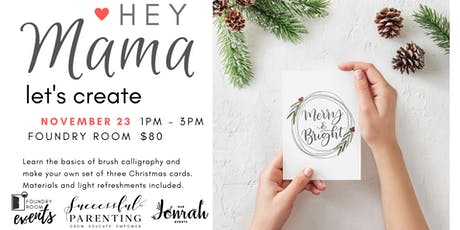 Christmas Watercolor Calligraphy tickets
