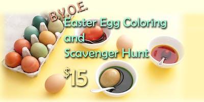 BYOE Easter Egg Coloring and Scavenger Hunt
