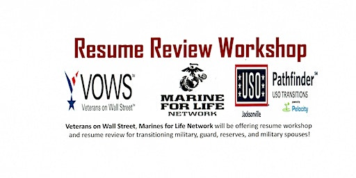Resume Writing Workshop for Transitioning Military and Military Spouses