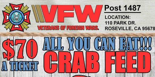 2nd Annual VFW Post 1487 Crab Feed