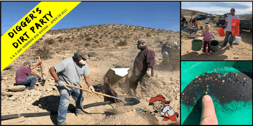 Digger's Dirt Party: Gold Mining Common Dig Outing at – Duisenburg, CA