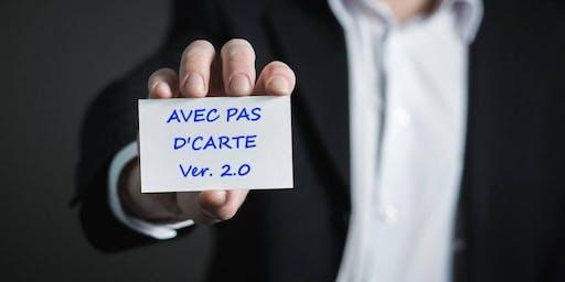 """Événements """"Avec pas d'carte"""" - 20 novembre 2019"""