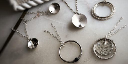 Discs and Hoops : Silver Earrings or Pendant Making