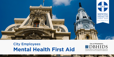 Youth MHFA for City of Philadelphia Employees ONLY* (September 10th & 11th)