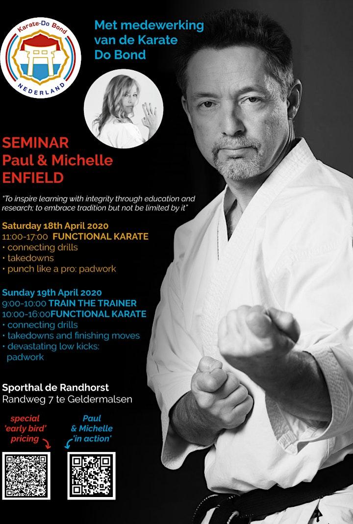 Afbeelding van Functional Karate seminar with Paul and Michelle Enfield 2021
