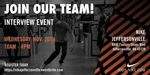 Nike Jeffersonville Interview Event