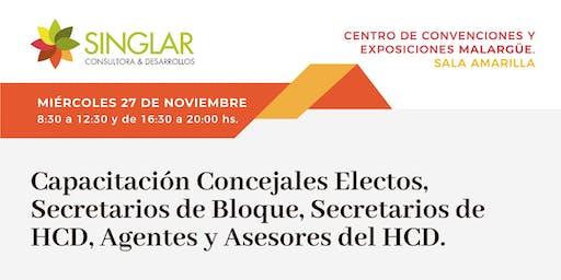 Capacitacion Concejales, Secretarios de Bloque, Secretarios de HCD, Agentes y Asesores del HCD
