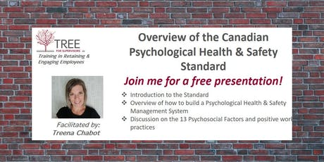 Overview of the Canadian Psychological Health & Safety Standard tickets
