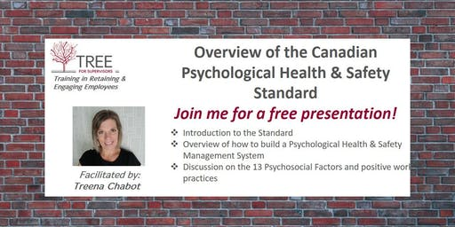 Overview of the Canadian Psychological Health & Safety Standard