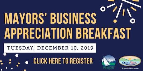 Mayors' Business Appreciation Breakfast tickets