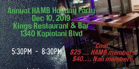 Hawaii Association of Mortgage Brokers & Professionals Annual Holiday Party tickets