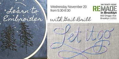 Embroidery Class with Gail Brill