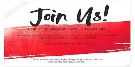 Savage Family Reunion 2020 tickets