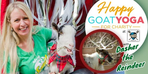 Happy Goat Yoga-For Charity: w/ REINDEER Photo-op! at Panther Island Brewing
