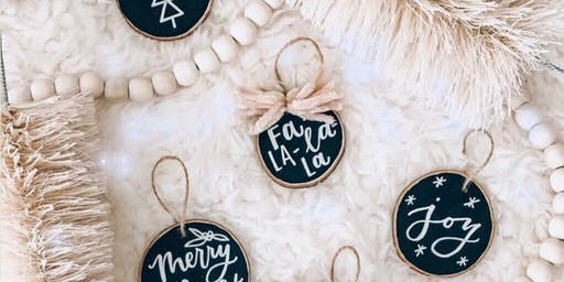 Holiday Ornament Workshop with Letterhouse Co