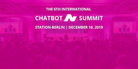 6th International Chatbot Summit - Berlin, December 10, 2019 - Workshops Tickets