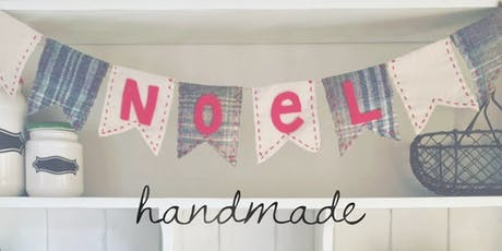 Rustic Christmas bunting - workshop tickets