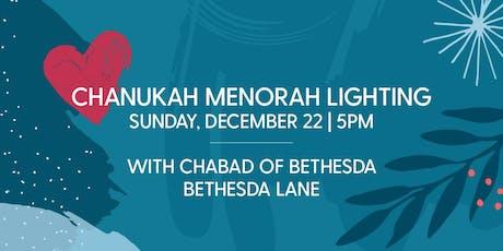 Chanukah Menorah Lighting with Chabad of Bethesda tickets