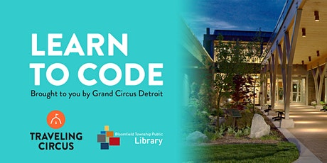 FREE Intro to Coding Workshop at the Bloomfield Township Public Library  tickets