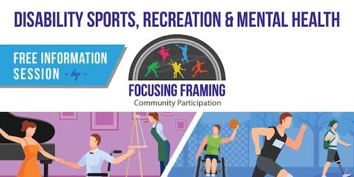 Disability Sports, Recreation and Mental Health Information Session