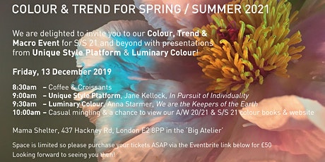 Spring/Summer 21 Colour, Trend & Macro Event tickets