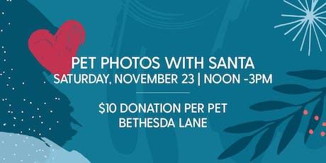 Pet Photos with Santa at Bethesda Row tickets