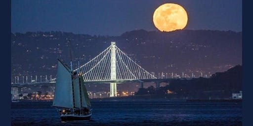 Full Moon August 2020- Moonrise & Bay Lights Sail on the San Francisco Bay