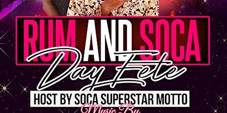 Rum & Soca w| Soca Superstar MOTTO tickets