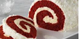 Peppermint Red Velvet Yule Log