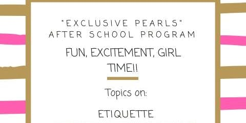 """Exclusive Pearls"" First Event!"