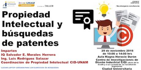 TALLER DE PROPIEDAD INTELECTUAL Y BÚSQUEDAS DE PATENTES   entradas