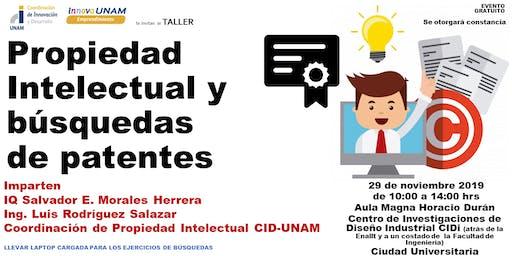 TALLER DE PROPIEDAD INTELECTUAL Y BÚSQUEDAS DE PATENTES