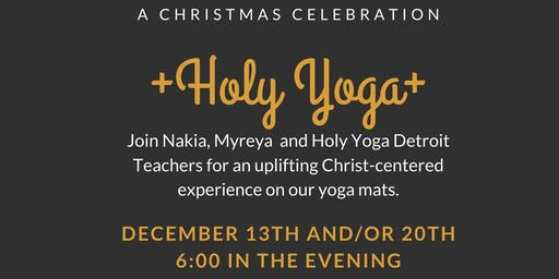 Christmas Holy Yoga at Yoga Shelter GP December 20th ONLY