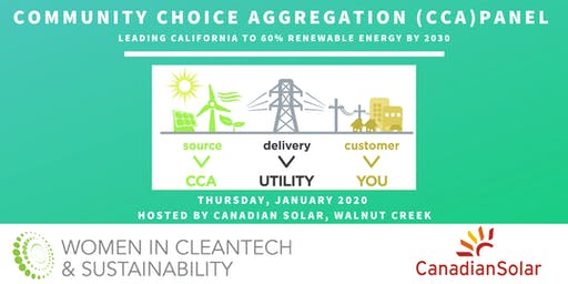 Women in Cleantech : Community Choice Aggregation (CCA) Panel