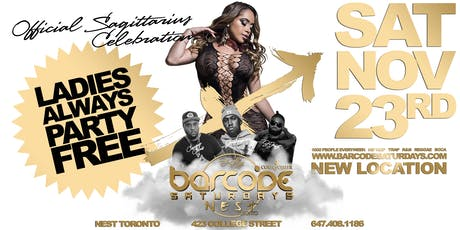Barcode Saturdays Toronto  Sagittarius Party tickets