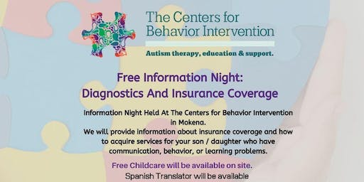 Free Info Night: Insurance and Autism Diagnois in (Spanish Translator)presented by CBI