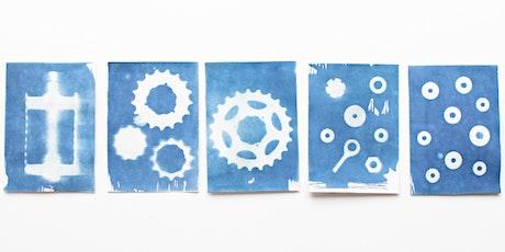 Card Making (Cyanotype printing) tickets