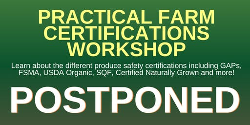 Practical Farm Certifications Workshop