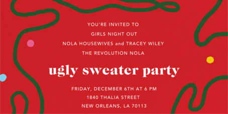 Ugly Sweater Girls Night Out and Networking
