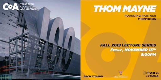 Thom Mayne Lecture @TTUCoA