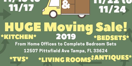 Tampa Bay Moving Sale